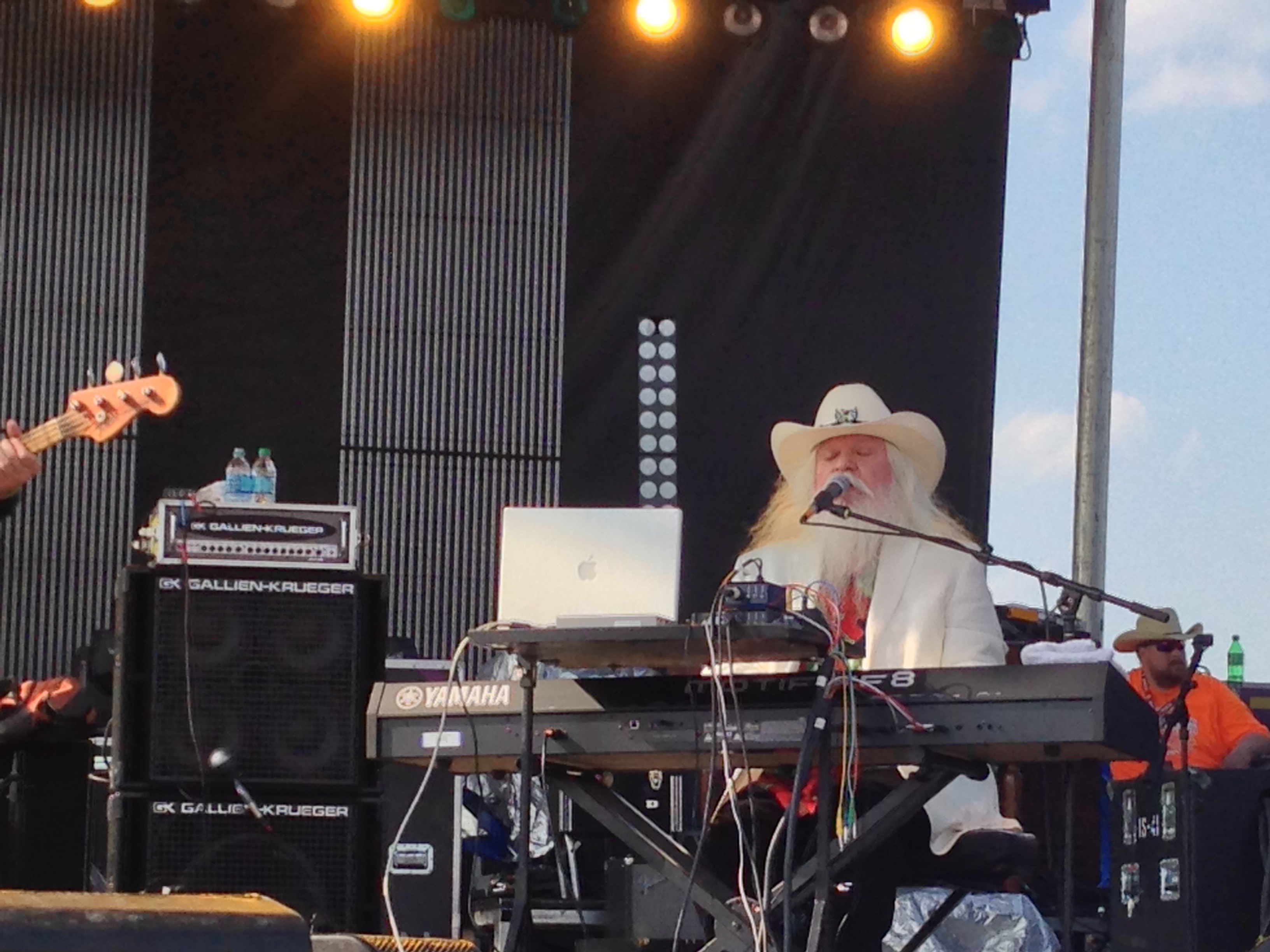 Leon Russell is one of Scorch's favorite piano players! Appearing here at Willie's Picnic in Fort Worth photo by Scorch